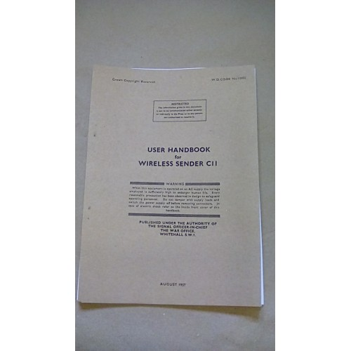 LARKSPUR USER HANDBOOK WIRELESS SENDER C11